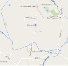 Map of Clinic Location, Ribchester, Lancashire